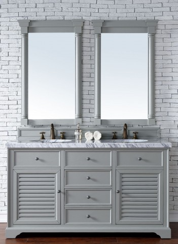 "Savannah 60"" Urban Gray Double 4Cm Top Vanity"