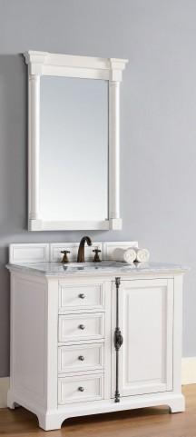 "Providence 36"" Cottage White Single 2CM Top Vanity Set"