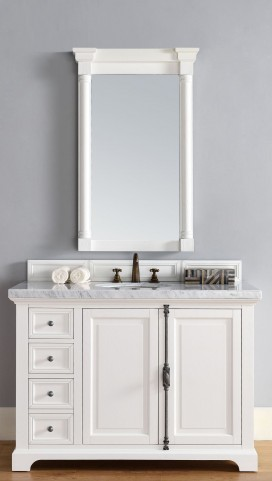 "Providence 48"" Cottage White Single 4CM Top Vanity Set"