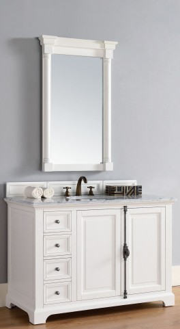 "Providence 48"" Cottage White Single 2CM Top Vanity Set"