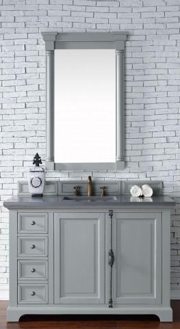 "Providence 48"" Urban Gray Single Vanity With 3Cm Shadow Gray Quartz Top"