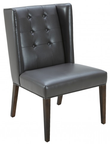 Clarkson Dining Chair Leather in Grey