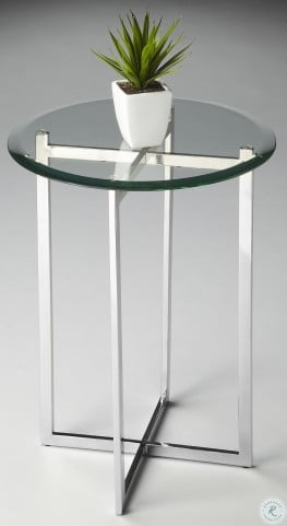 2385220 Loft Nickel Accent Table