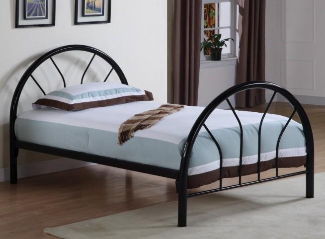 Rack em up Black Twin Metal Bed