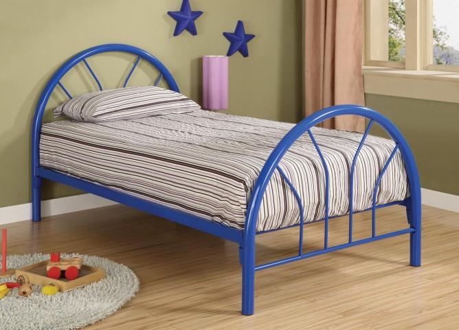 Rack em up Blue Twin Metal Bed