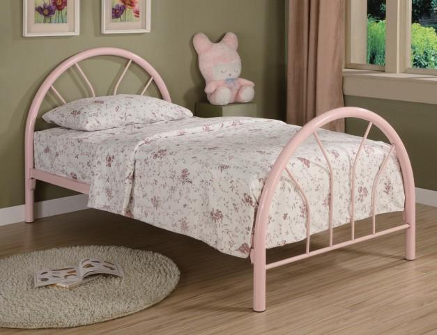 Rack em up Pink Twin Metal Bed