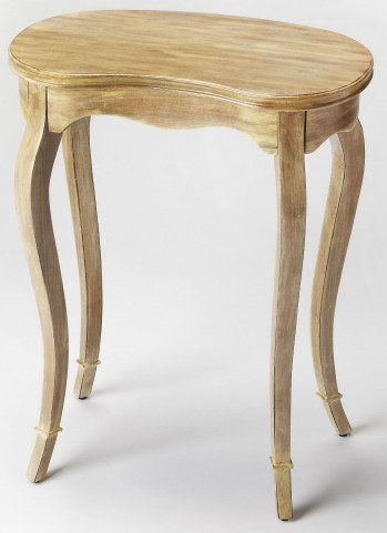 Marlowe Driftwood Kidney-Shaped End Table