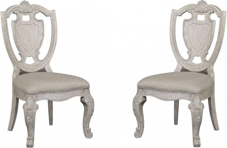 Renaissance Shield Back Side Chair Set of 2