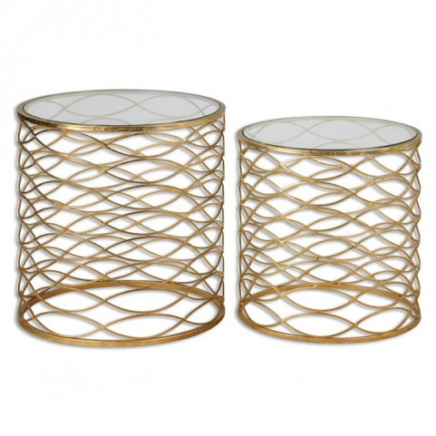 Zoa Gold Accent Tables Set of 2
