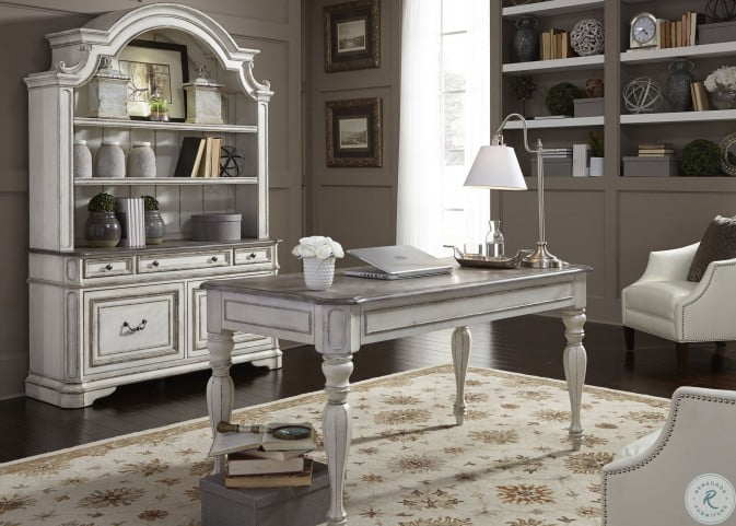 Magnolia Manor Antique White Home Office Set From Liberty Coleman