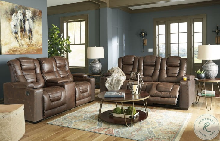 Owner's Box Thyme Power Reclining Living Room Set with Adjustable Headrest