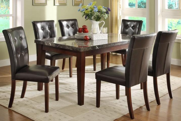 Decatur Espresso Marble Top Dining Room Set