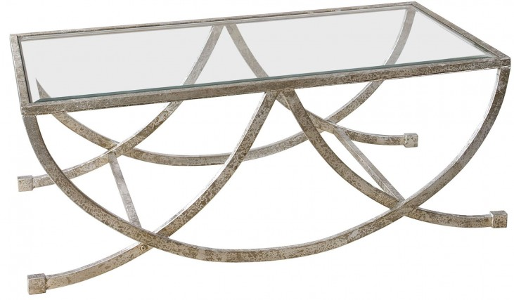 Marta Antiqued Silver Coffee Table