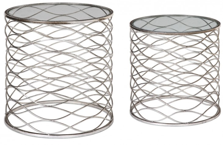 Aida Iron Cage Accent Tables Set of 2