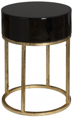 Myles Curved Black Accent Table