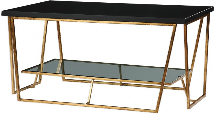 Agnes Black Granite Console Table from Uttermost | Coleman Furniture