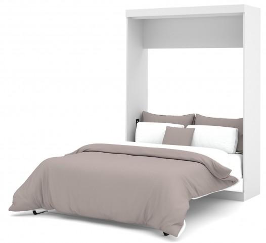 Nebula White Full Wall Bed