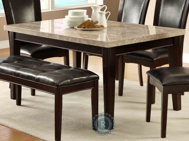 Hahn Dining Table with Marble Top