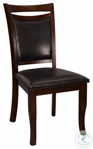 Maeve Dark Cherry Side Chair Set of 2