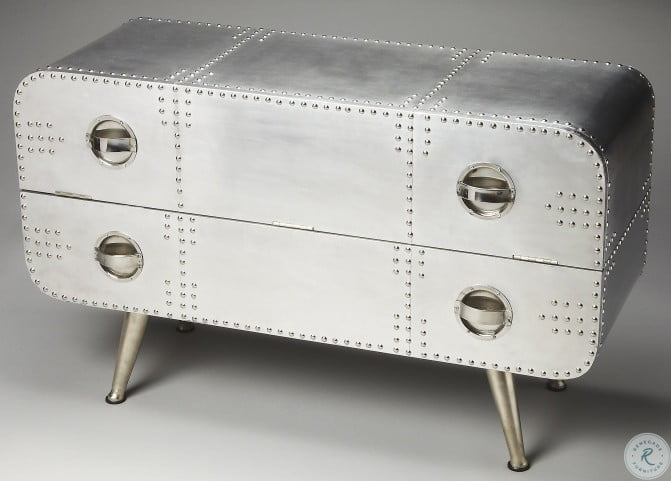Midway Industrial Chic Metalworks Console Chest