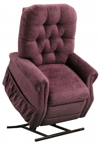 Encounter Wine Tufted Two Way Reclining Lift Chair