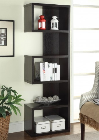 800069 Cappuccino Semi Backless Bookshelf