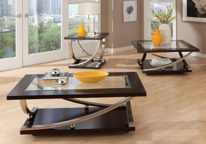 Melrose Dark Merlot Occasional Table Set
