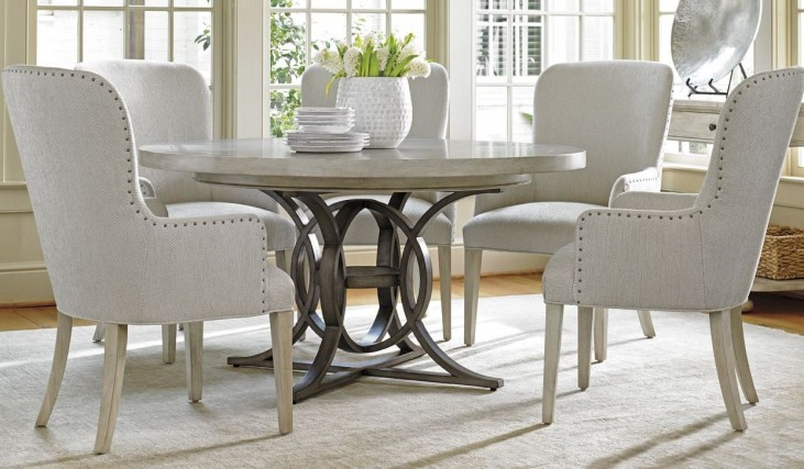 Oyster Bay Calerton Extendable Round Dining Room Set