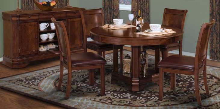 Sheridan Burnished Cherry Round Extendable Dining Room Set