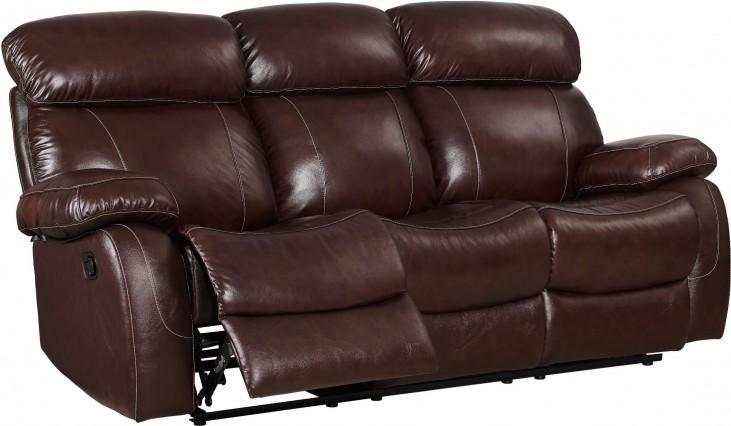 Dante Dark Brown Reclining Sofa From New Classic Coleman