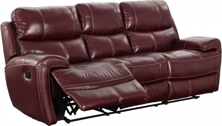 Boulevard Burgundy Power Dual Reclining Sofa from New Classic ...