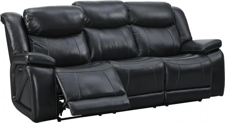 Las Vegas Black Power Reclining Sofa from New Classic   Coleman ...