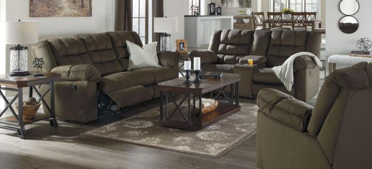 Mort Umber Reclining Living Room Set