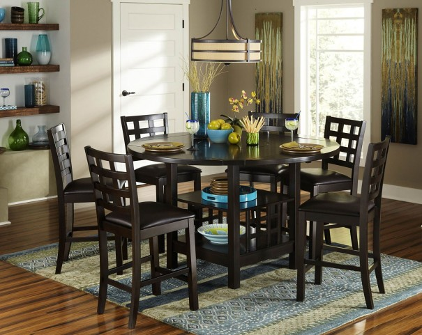 Glendine Lazy Susan Counter Height Dining Room Set