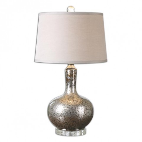 Aemilius Gray Glass Table Lamp