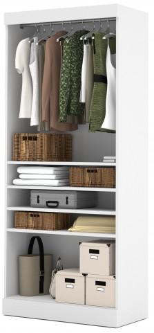 """Pure White 36"""" Open Storage Unit"""