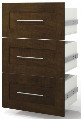 "Pur Chocolate 3 Drawer Set For 25"" Storage Unit"