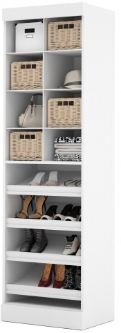"Pure White 25"" Cubby Multi-Storage Unit"
