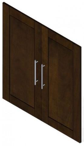 "Pur Chocolate 2 Door Set For 36"" Storage Unit"