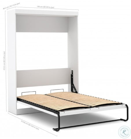"""Pure White 120"""" Door Full Wall Bed"""