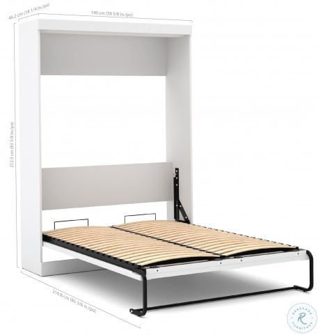 """26897 Pure White 95"""" Door Full Wall Bed"""