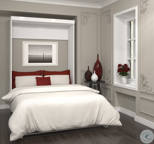 Pur White Full Wall Bed
