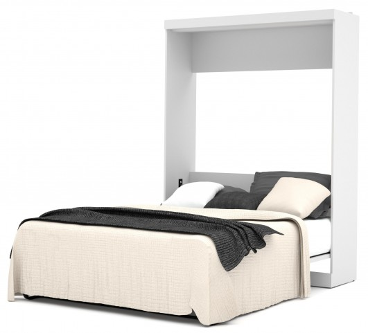 Pur White Queen Wall Bed