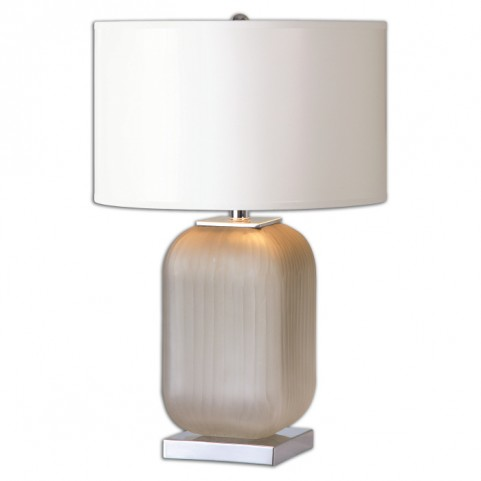Forino Gray Glass Table Lamp