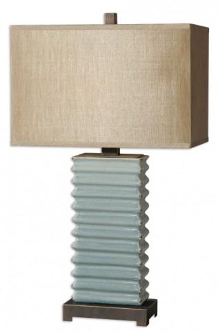 Lupara Crackled Blue Lamp