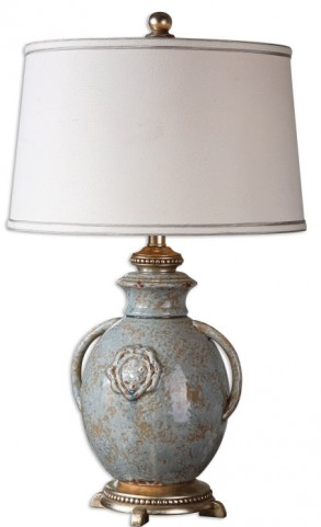 Cancello Blue Glaze Lamp