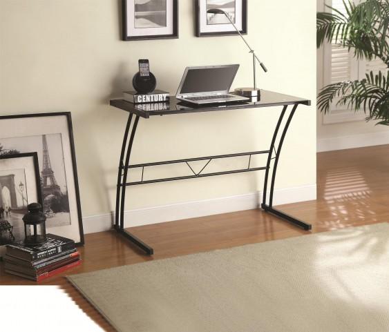 800906 Writing Tempered Glass Top Desk
