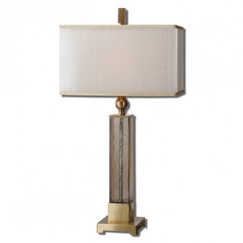 Caecilia Amber Glass Table Lamp