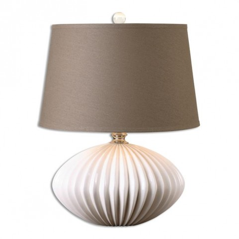 Bariano Gloss White Table Lamp
