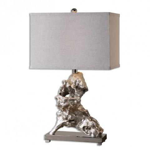 Rilletta Metallic Silver Table Lamp